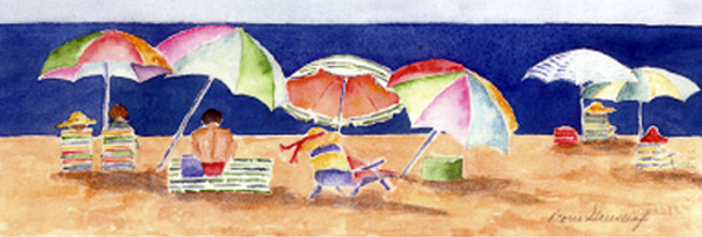 Umbrellas by Doris Greenleaf