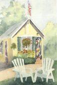 Yellow Cottage by Doris Greenleaf