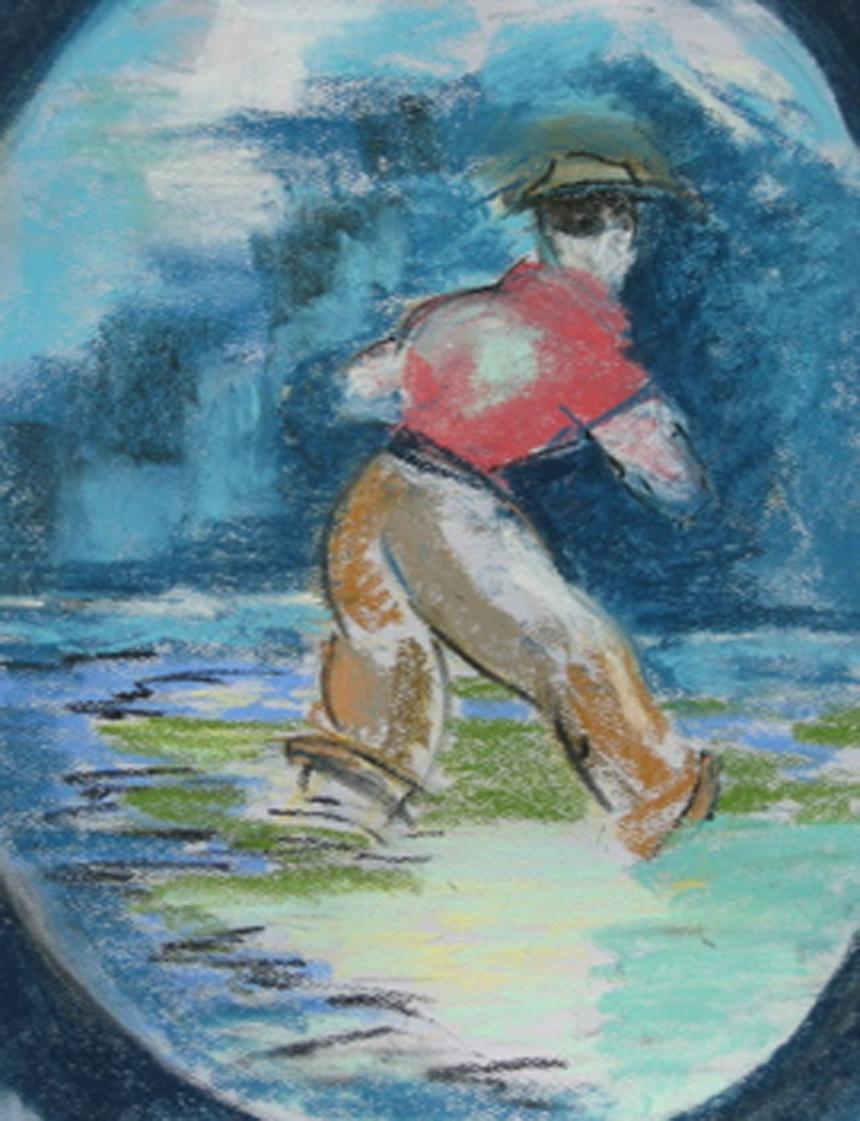 Man Wading - C