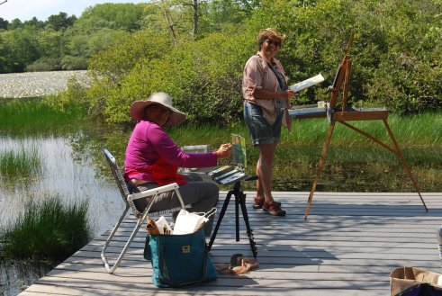 Painting at Beech Forest Trail