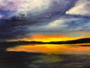 Sunset on the Beach by Mary Anne Tessier